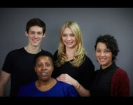 Jodie Kidd and the cast of the London production